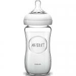 Бутылочка Avent для кормления стеклянная Natural 240 мл