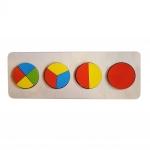 Пазл-рамка для малышей Геометрия Круги