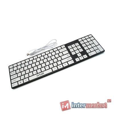 Клавиатура Delux DLK-1000U, Black/White, USB