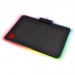 Коврик для компьютерной мыши, Thermaltake, DRACONEM RGB TOUCH ID (MP-DCM-RGBHMS-02), 3552554мм, Тканевая поверхность с контуром, Подсветка RGB, USB, Чёрный