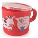 Кружка с ручкой и крышкой Happy Baby Training Cup Ruby