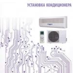 Установка кондиционера 18 сплит-системы настенного типа до 50 кв